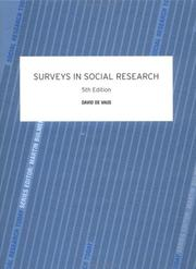 Cover of: Surveys in Social Research 5th Edition (Social Research Today)