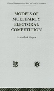 Cover of: Models of Multiparty Electoral Competition