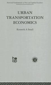 Cover of: Urban Transportation Economics