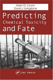 Cover of: Predicting chemical toxicity and fate |
