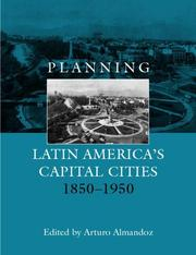 Cover of: Planning Latin American Capital Cities1850-1950