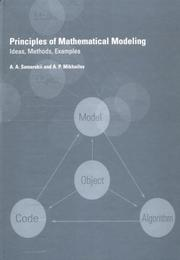 Cover of: Principles of Mathematical Modelling