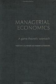 Cover of: Managerial Economics