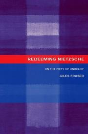 Cover of: Redeeming Nietzsche