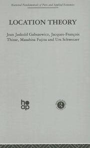 Cover of: Location Theory | J. Gabszewicz