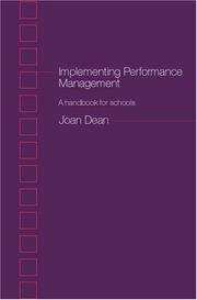 Cover of: Implementing Performance Management