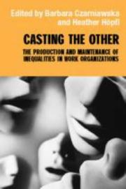 Cover of: Casting the Other
