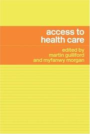 Cover of: Access to Health Care