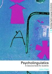 Cover of: Psycholinguistics
