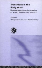 Cover of: Transitions in the Early Years
