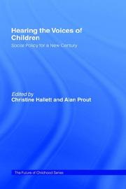 Cover of: Hearing the Voices of Children