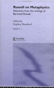 Cover of: Russell on Metaphysics