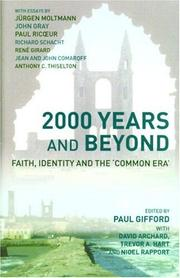 Cover of: 2000 Years and Beyond: Faith, Identity and the Commmon Era