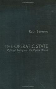 Cover of: The Operatic State