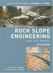 Cover of: Rock Slope Engineering