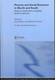 Cover of: Poverty and Exclusion in North and South