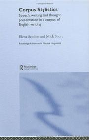 Cover of: Corpus stylistics