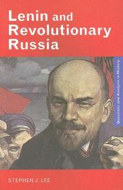 Cover of: Lenin and revolutionary Russia