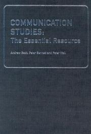 Cover of: Communication Studies | Andrew Beck
