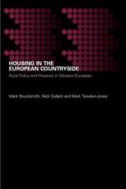 Cover of: Housing in the European Countryside