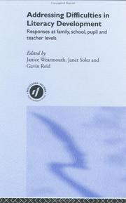 Cover of: Addressing Difficulties in Literacy Development | J. Wearmouth