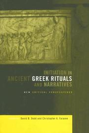 Cover of: Initiation in ancient Greek rituals and narratives |