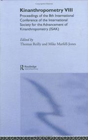 Cover of: Kinanthropometry VIII | International Society for Advancement of Kinanthropometry. International Conference