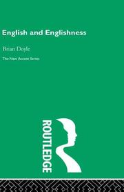 Cover of: English And Englishness | Brian Doyle