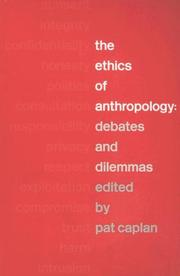 Cover of: The Ethics of Anthropology