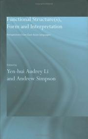 Cover of: Functional Structure(s), Form and Interpretation