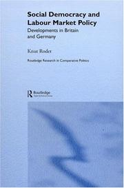 Cover of: Social democracy and labour market policy | Knut Roder