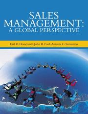 Cover of: Sales Management