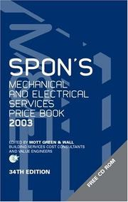 Cover of: Spon's Mechanical & Electrical Services Price Book 2003 (Spon's Pricebooks)