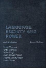 Cover of: Language, Society and Power