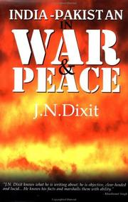 Cover of: India-Pakistan in War and Peace