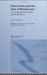 Cover of: Dostoevsky and The Idea of Russianess | Sarah Hudspith