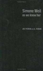 Cover of: Simone Weil as we knew her