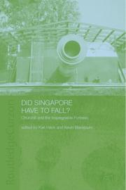 Cover of: Did Singapore Have to Fall