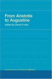 Cover of: From Aristotle to Augustine