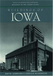 Cover of: Buildings of Iowa