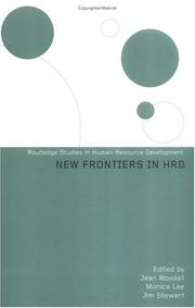 Cover of: New Frontiers in Human Resource Development | Jean Woodall