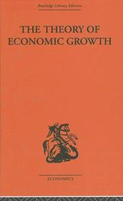 Cover of: Theory of Economic Growth | W. Arthur Lewis