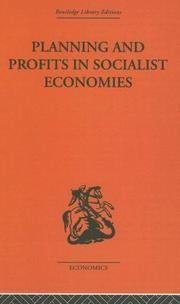 Cover of: Planning and Profits in Socialist Economies | Jean-C Asselain