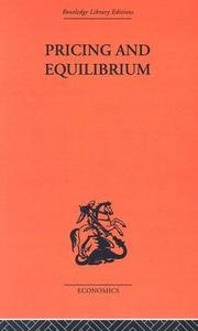 Cover of: Pricing and Equilibrium | Erich Schneider