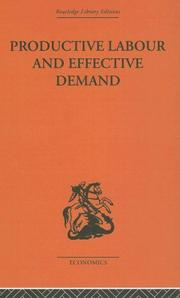 Cover of: Productive Labour and Effective Demand