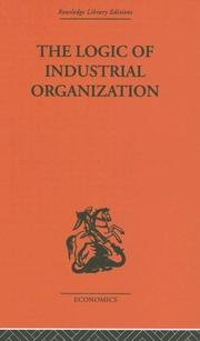 Cover of: Logic of Industrial Organization