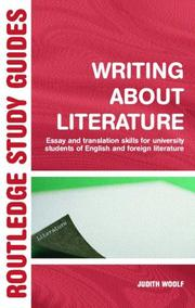 Cover of: Writing About Literature | Judith Woolf