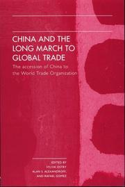 Cover of: China and the Long March to Global Trade