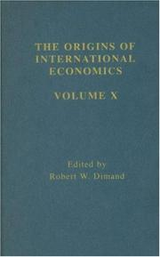 Cover of: Developments in International Trade Theory