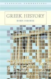 Cover of: Greek history